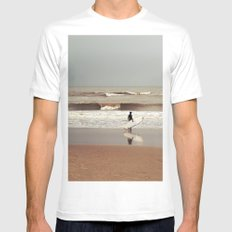 The surfer SMALL White Mens Fitted Tee