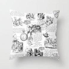Alice in Wonderland - Pages Throw Pillow