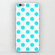 Polka Dots (Aqua Cyan/White) iPhone & iPod Skin