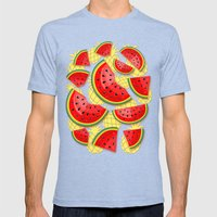 Watermelon And Pineapple… Mens Fitted Tee Tri-Blue SMALL