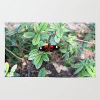 Butterfly Red Rug