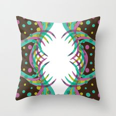 Abstract Spring Bloom Throw Pillow