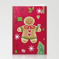 Gingerbread Girl Stationery Cards