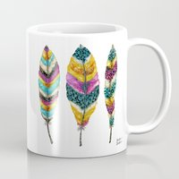 Midnight Feather Trio. Candy Colored Edition Mug