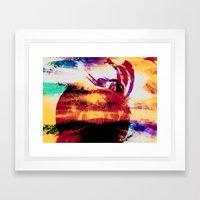 Boiling Framed Art Print