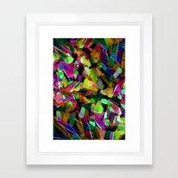 Geometric Puzzel Framed Art Print