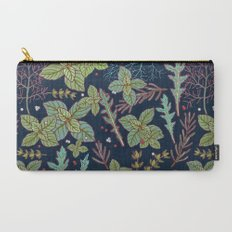 dark herbs pattern Carry-All Pouch