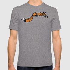Sleeping Fox Mens Fitted Tee Tri-Grey SMALL