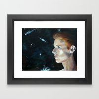 The Man Who Fell Framed Art Print