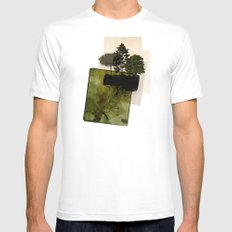 ISLAND White SMALL Mens Fitted Tee