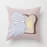 Kraken Toast Throw Pillow