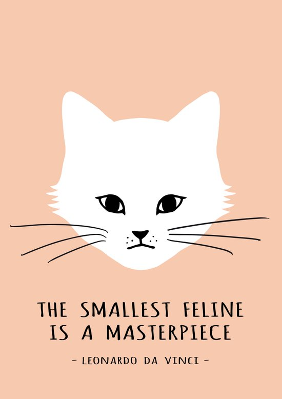 The smallest feline Canvas Print