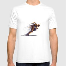 Athlethic's Run Mens Fitted Tee White SMALL