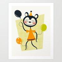 Bouncy Balloons  Art Print