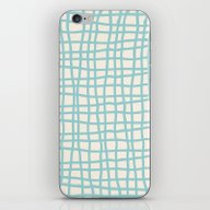 Blue Scribbles 06 iPhone & iPod Skin