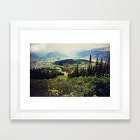 Down in the Valley Framed Art Print