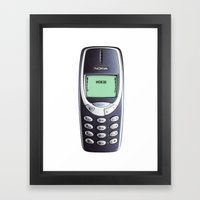 VINTAGE PHONE  Framed Art Print