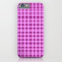 Purple Checkers. iPhone 6 Slim Case
