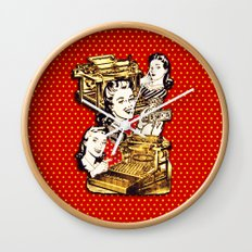Quirky Office Gals Wall Clock