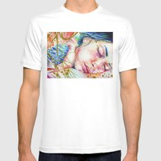 Golden Dreams SMALL Mens Fitted Tee White