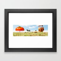 Honey I Shrunk The Farm. Framed Art Print