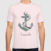 Be My Anchor Mens Fitted Tee Light Pink SMALL