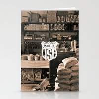 Brown White Made In USA Vintage Photography Print Stationery Cards