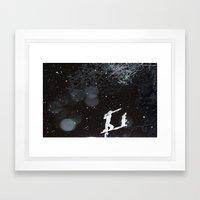 Winter Golfing Framed Art Print