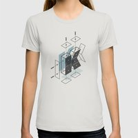 The Exploded Alphabet / K Womens Fitted Tee Silver SMALL