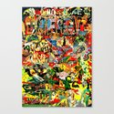 weird terror // gnome Canvas Print