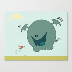 Butterfly Monster Canvas Print