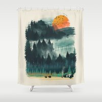 Wilderness Camp Shower Curtain