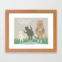Kitten Fun. Framed Art Print