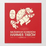 Hammer Throw Contest Canvas Print