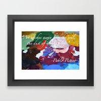 Paint Like Picasso. Framed Art Print