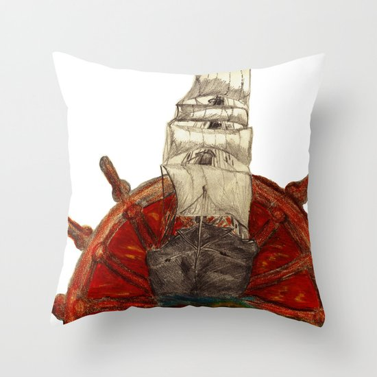 Steering into a new setting Throw Pillow