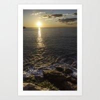 Coogee Cliff Sunrise Art Print
