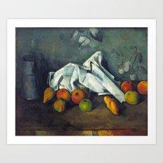 1880 - Paul Cezanne - Milk Can and Apples Art Print