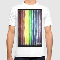 Pride Colours White Mens Fitted Tee SMALL