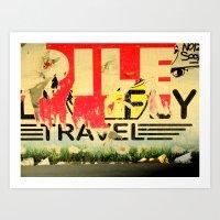 Travel! Art Print
