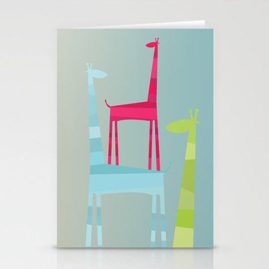 Giraffe Trio Stationery Card