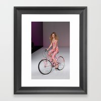 Girls on Bikes Framed Art Print