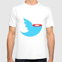 Headless Tweet Mens Fitted Tee White SMALL