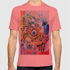 Hypnotic Eye Mens Fitted Tee Pomegranate SMALL