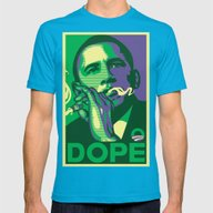 The Dopest President Mens Fitted Tee Teal SMALL
