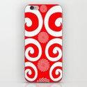 Peppermint Swirl iPhone & iPod Skin