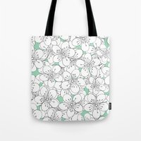 Cherry Blossom With Mint… Tote Bag