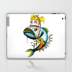 Fish with Girl Hat Laptop & iPad Skin