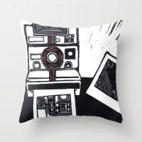 I dream in Polaroid  Throw Pillow