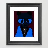 Panda Geek Chic Framed Art Print